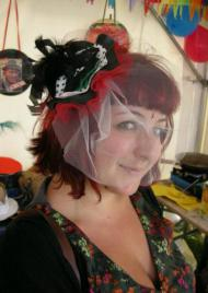 Fascinator made from an LP