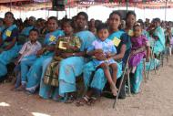 Women and children from Schumacher partner Social Change and Development in Tamil Nadu, India