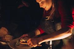 cooking food on a campfire